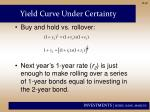 yield curve under certainty1