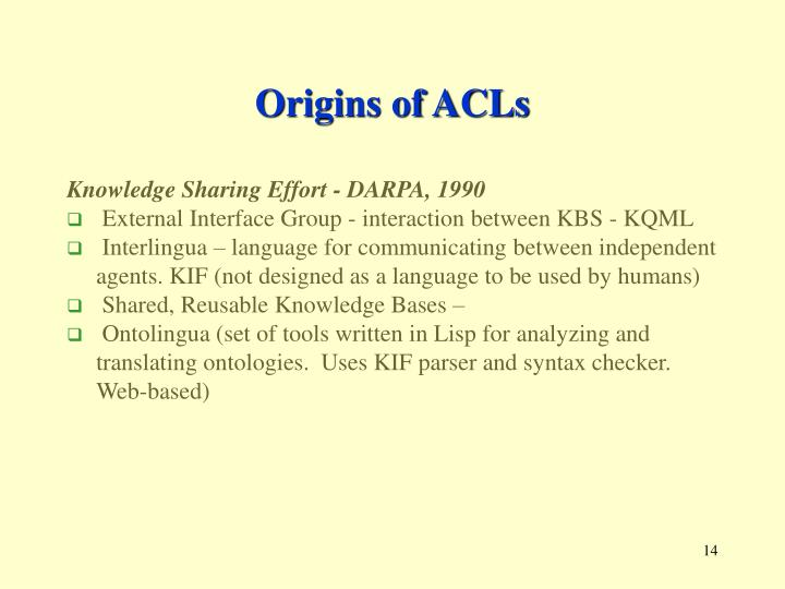 Origins of ACLs
