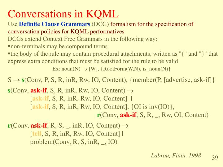 Conversations in KQML