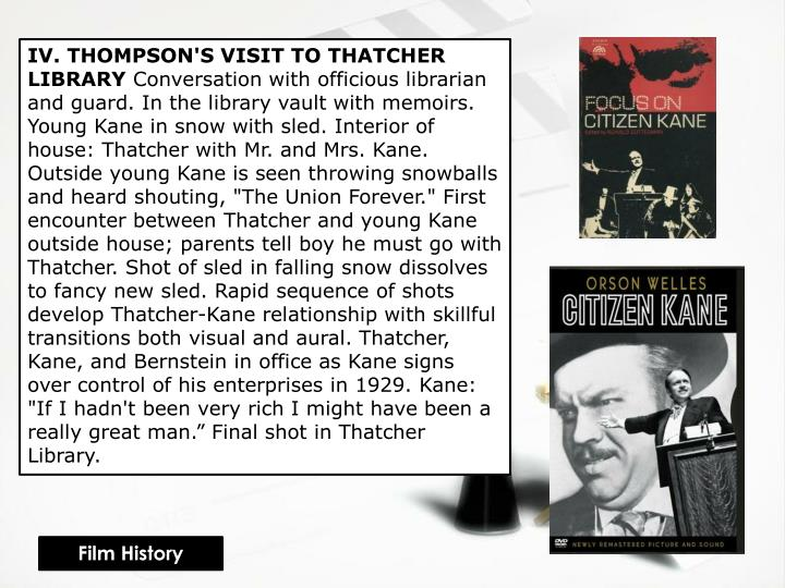 IV. THOMPSON'S VISIT TO THATCHER LIBRARY