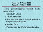 perda no 3 tahun 2009 tanggal 19 maret 2009