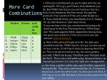 more card combinations