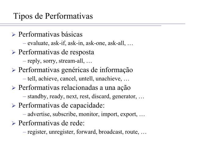 Tipos de Performativas