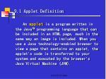 9 1 applet definition