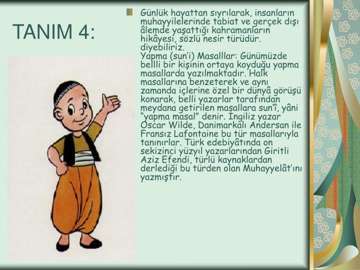 TANIM 4: