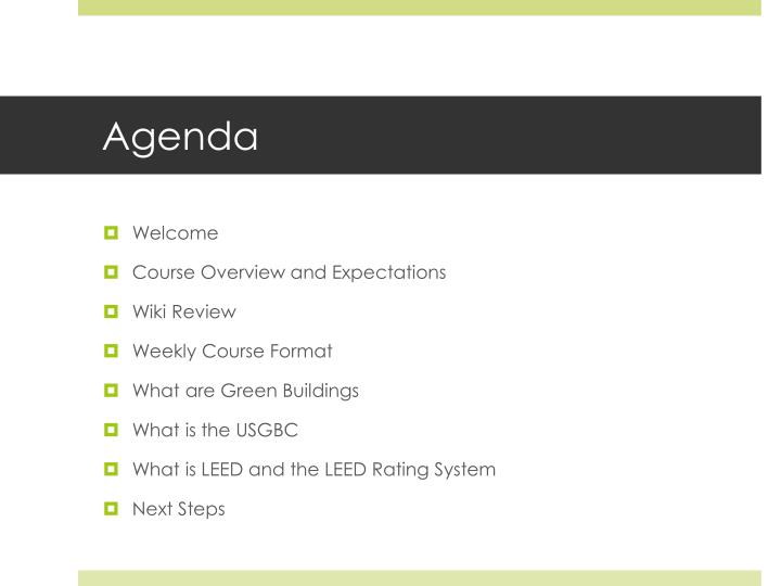 Ppt Session One Introduction To Green Buildings And Leed