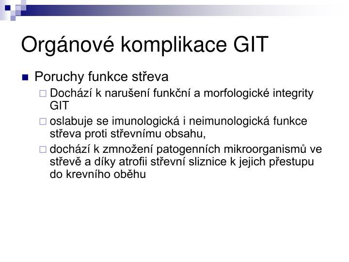 Orgánové komplikace GIT