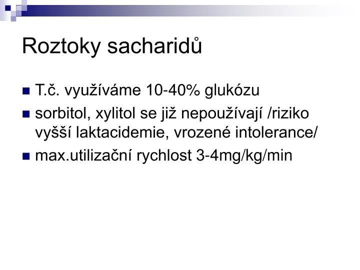 Roztoky sacharidů