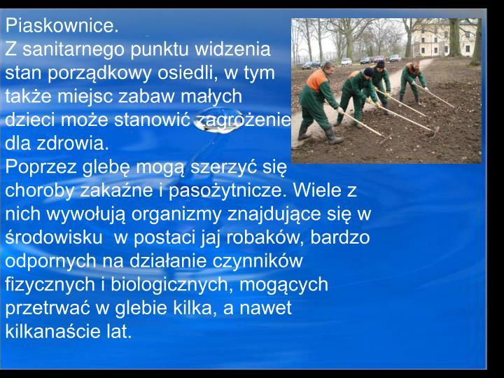 Piaskownice.