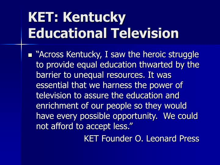 KET: Kentucky Educational Television