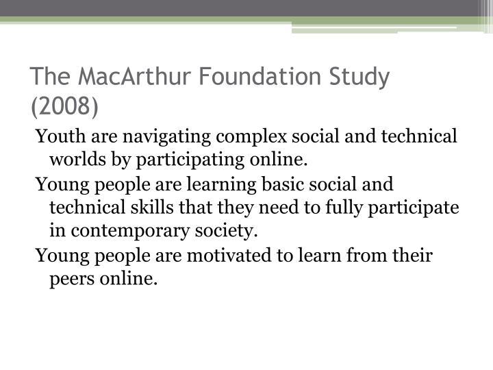 The MacArthur Foundation Study (2008)