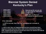 biennial system denied kentucky s plan