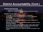 district accountability cont