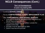 nclb consequences cont