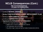 nclb consequences cont3