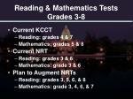 reading mathematics tests grades 3 8