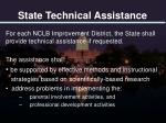 state technical assistance