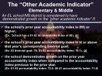 the other academic indicator elementary middle