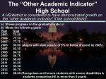 the other academic indicator high school
