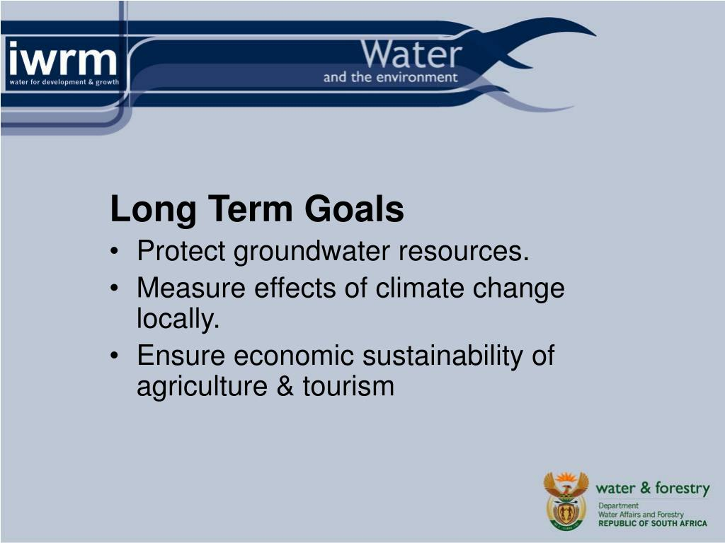 PPT - Water and the Environment – Wilna Kloppers Department