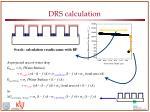 drs calculation