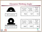 dynamic wetting angle