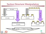 surface structure manipulation
