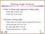 wetting angle analysis