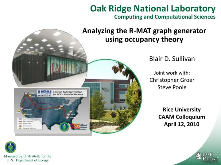 oak ridge national laboratory computing and computational sciences