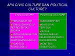 apa civic culture dan political culture