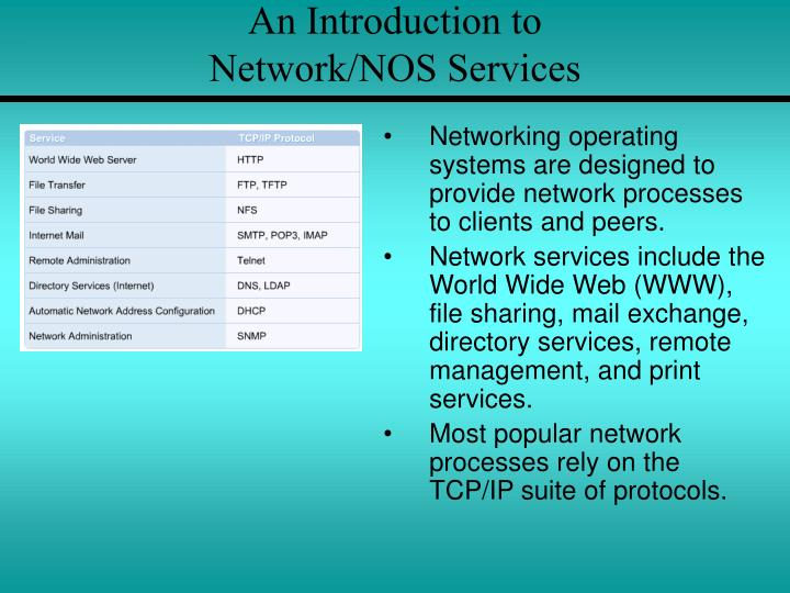 An introduction to network nos services