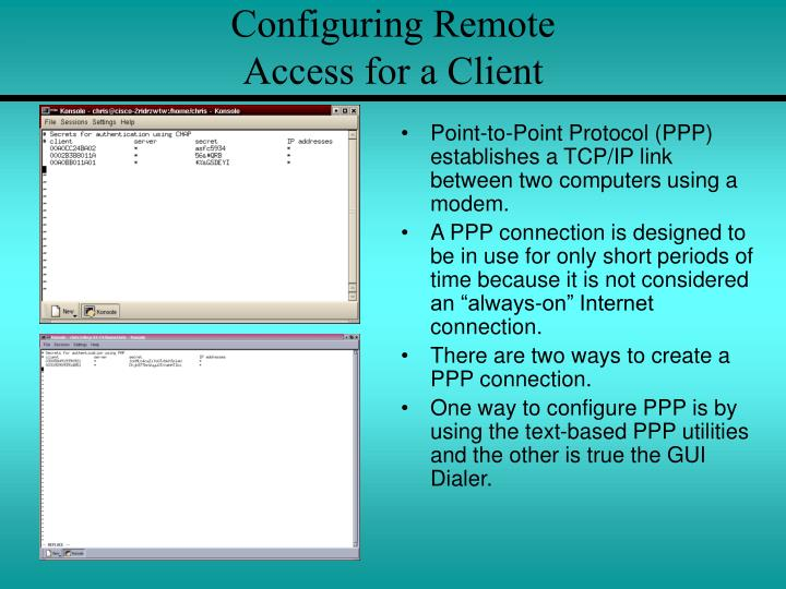 Configuring Remote