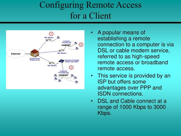 Configuring Remote Access