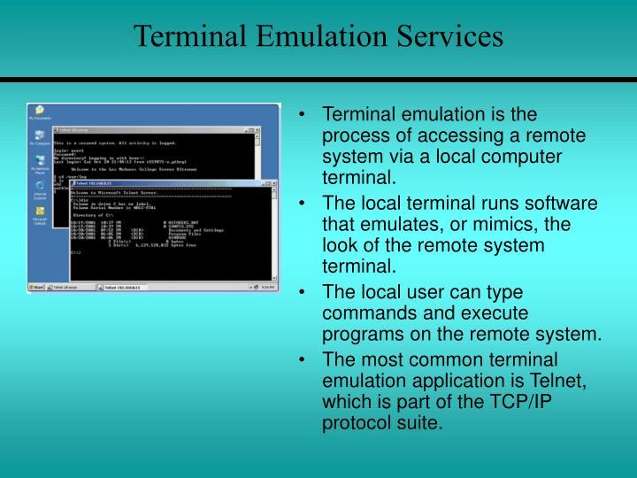 Terminal Emulation Services
