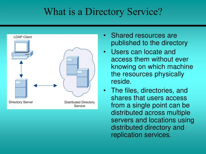 What is a Directory Service?