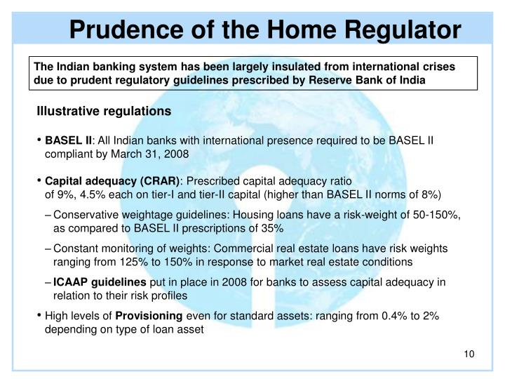 Prudence of the Home Regulator