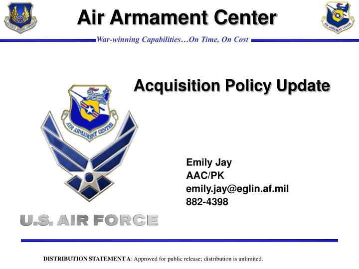 Acquisition policy update