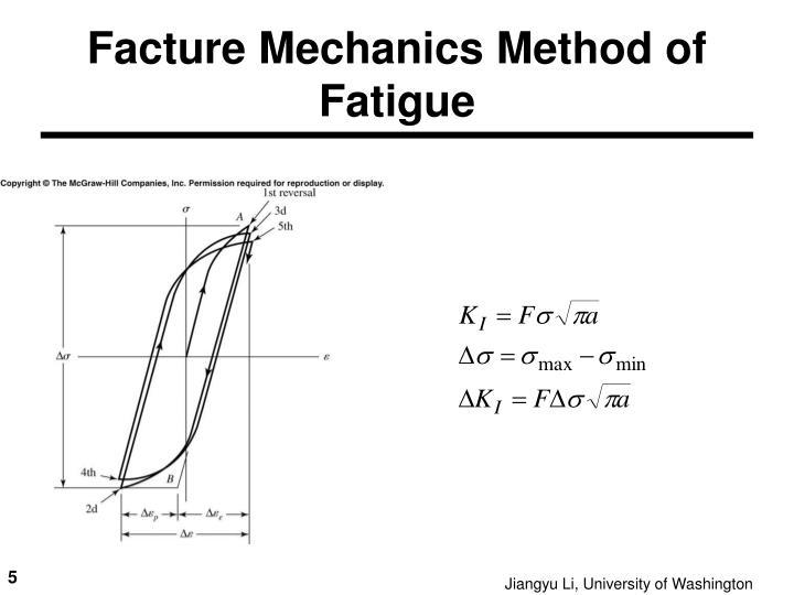 Facture Mechanics Method of Fatigue