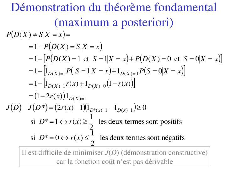 Démonstration du théorème fondamental