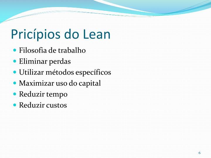Pricípios do Lean