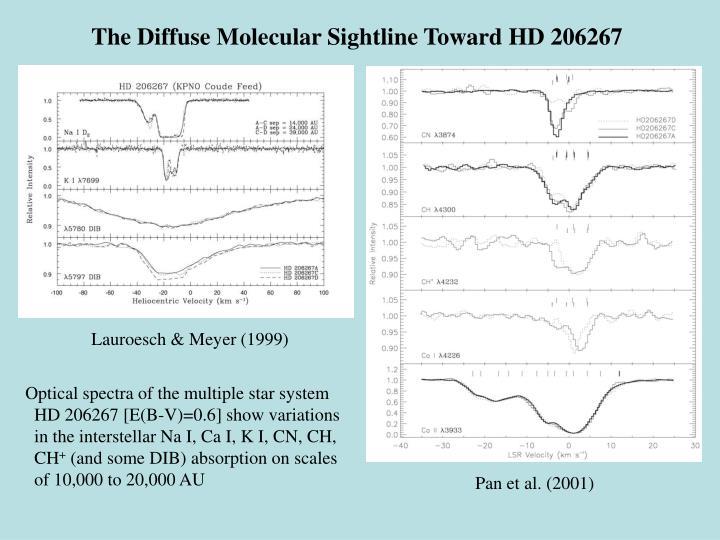 The Diffuse Molecular Sightline Toward HD 206267