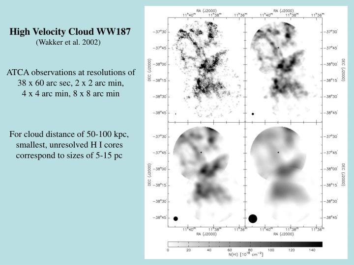 High Velocity Cloud WW187