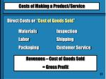 direct costs cost of goods sold