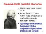 klasick kola politick ekonomie