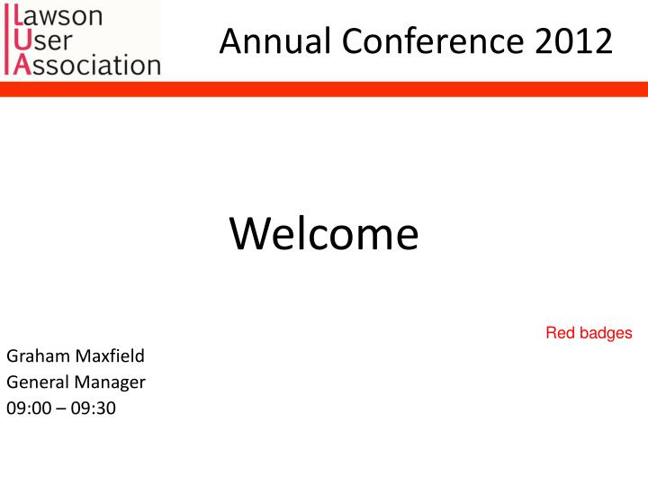 annual conference 2012 n.