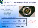 the hepaps4 large area sensor for hep applications