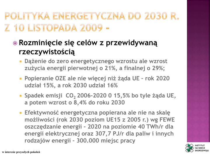 Polityka energetyczna do 2030 r.