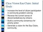 clear vision eau claire initial goals