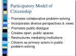 participatory model of citizenship