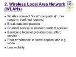 2 wireless local area network wlans
